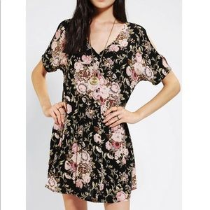Staring At Stars Gauze Button Front Babydoll Dress